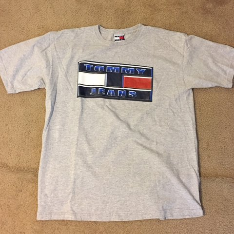 0ee4d38d @acedu135. 2 months ago. Laurel, United States. Vintage Retro 90's Tommy  Hilfiger Tommy Jeans Graphic Print T Shirt. In good condition with no ...