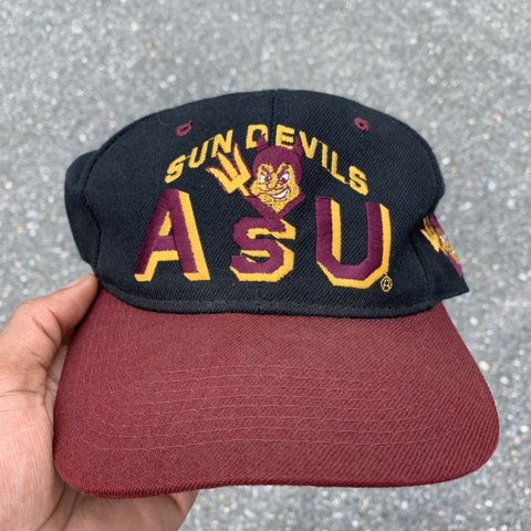 9e47d9a1 @acedu135. in 31 minutes. Laurel, United States. Vintage Retro 90's NCAA Arizona  State University Sun Devils Wool Snapback Hat ...