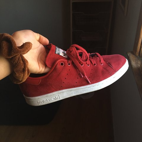official photos e5162 fed31  sabspalao. 4 months ago. Little Ferry, United States. Adidas red suede Rita  Ora Stan Smith ...