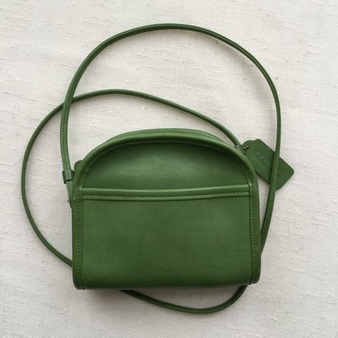 314bbbf32a Small green  COACH  purse with side pocket. Very faint water - Depop