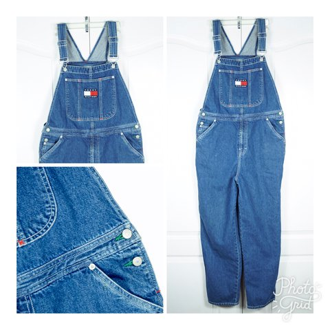 b3be4710 @nun4fun. 2 years ago. National City, United States. Vintage 90s hip hop TOMMY  HILFIGER Denim Overalls Size Large XL