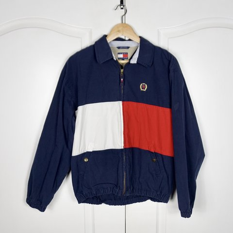 ba643365 @nun4fun. last year. San Diego, United States. TOMMY HILFIGER 90's  Colorblock Vintage Windbreaker ...