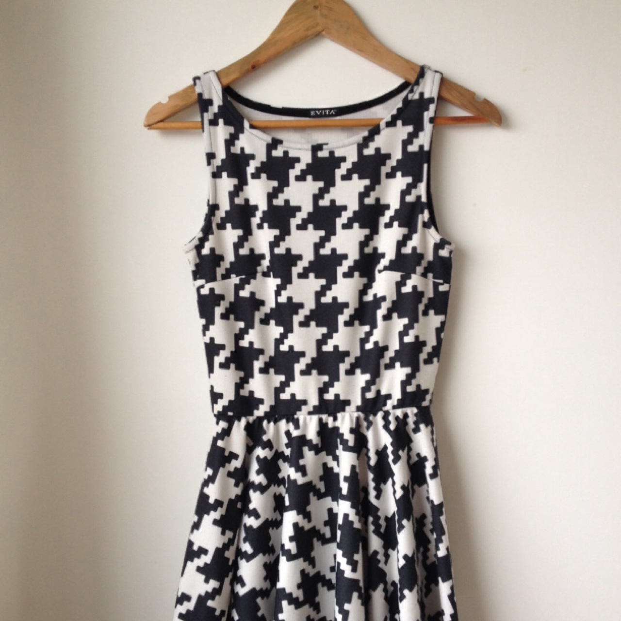 90s black and white skater dress. With