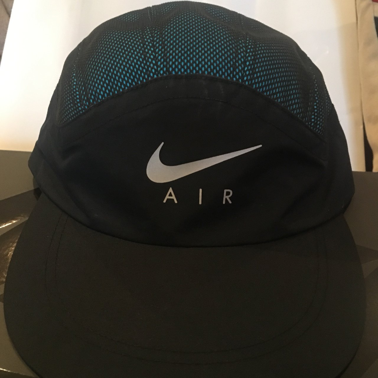 44a69be3f0178 Supreme X Nike Trail Running Hat BLUE CHEAP DEADSTOCK brand - Depop