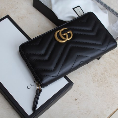ddecfe08c50f @luxcessorie. last year. Esher, United Kingdom. NEW Authentic Black Gucci  GG Marmont ...