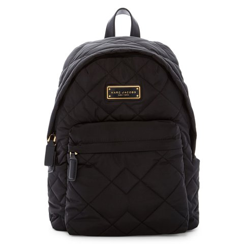 82ba9ec9f7d19 NEW Marc Jacobs Black Nylon Quilted Backpack Brand new with - Depop