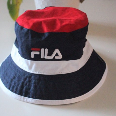 e56a8f5e5297a Fila bucket hat Red navy blue and white One size fits