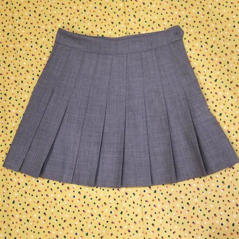 32162567c6 Grey pleated tennis-style mini skirt. A perfect staple for - Depop
