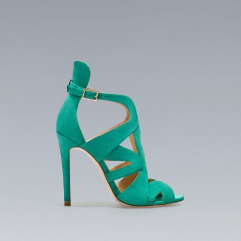 SandalsMint Heeled ConditionPop Turquoise Zara Leather Depop BoderxC