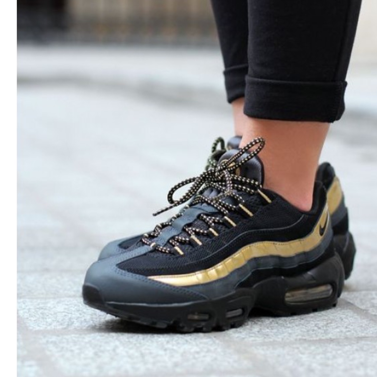 online store 71e9d f7884 Nike air max 95 black and gold edition £65 us 7 uk 6... - Depop