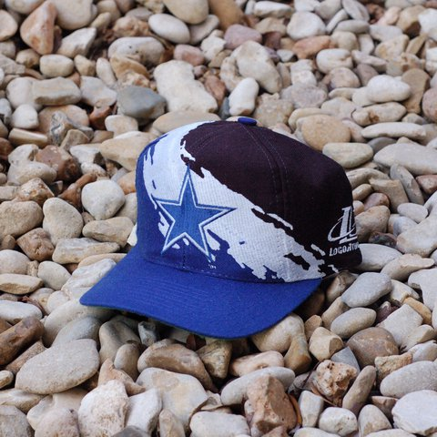 3463ea545c344d @batcityvintage. 2 years ago. Austin, United States. 🔥😵🏈 Rare Vintage 90s  Logo Athletic NFL Dallas Cowboys black dome Splash football snapback hat ...