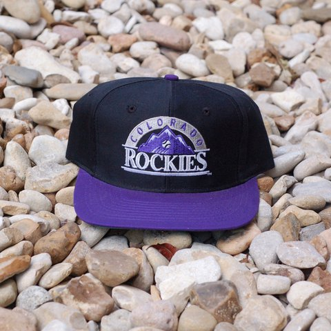 size 40 ea0b0 cb2c4  batcityvintage. 2 years ago. Austin, United States. 🔥⚾ Amazing Vintage  90s MLB Colorado Rockies The Game logo baseball snapback hat ...