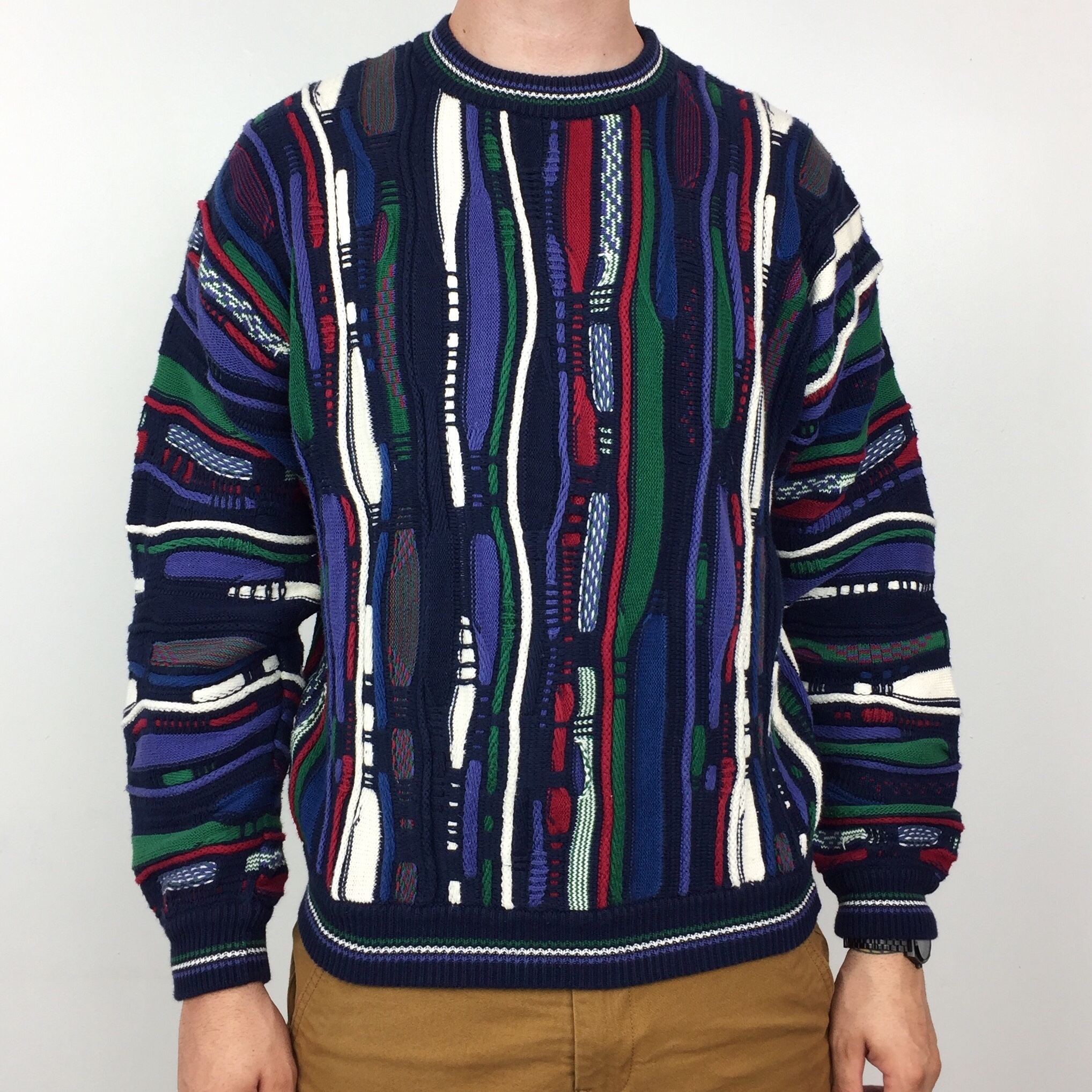Vintage 90s North Wales Coogi inspired style Depop