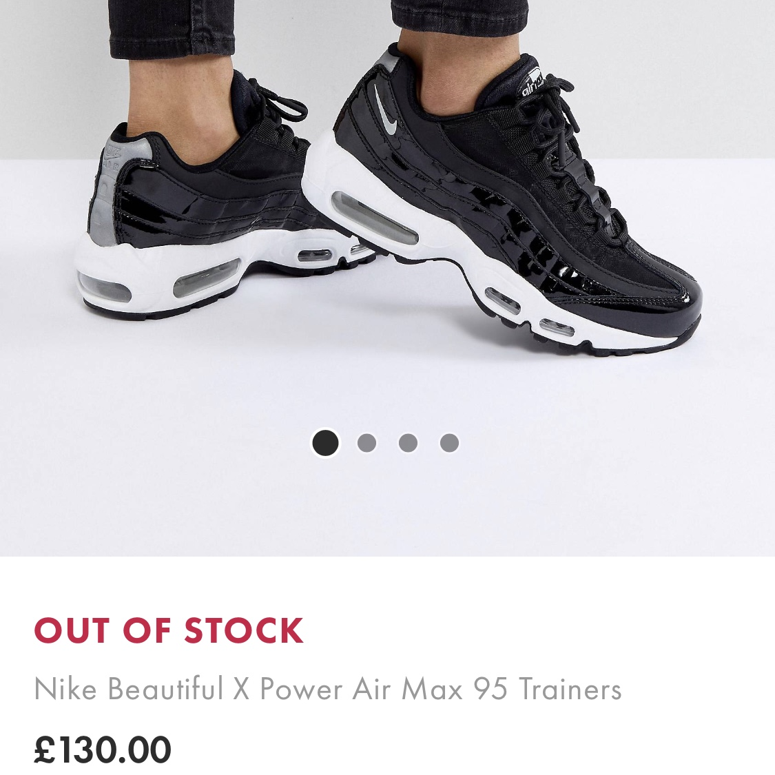 """differently website for discount 50% off """"Nike Beautiful X Power Air Max 95 Trainers"""" sold... - Depop"""