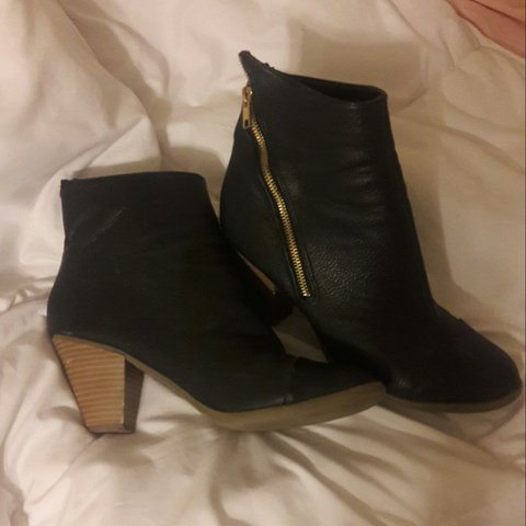 Leather Ankle Boots From Belk Worn For A Dance So Heels Are A