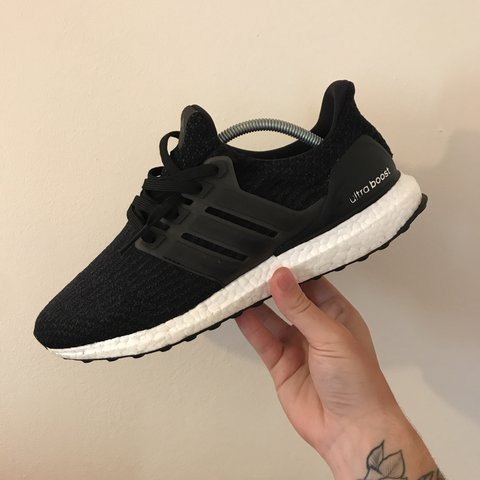 3ab7e37e8 Adidas Ultra Boost 3.0 in black and white very good worn for - Depop
