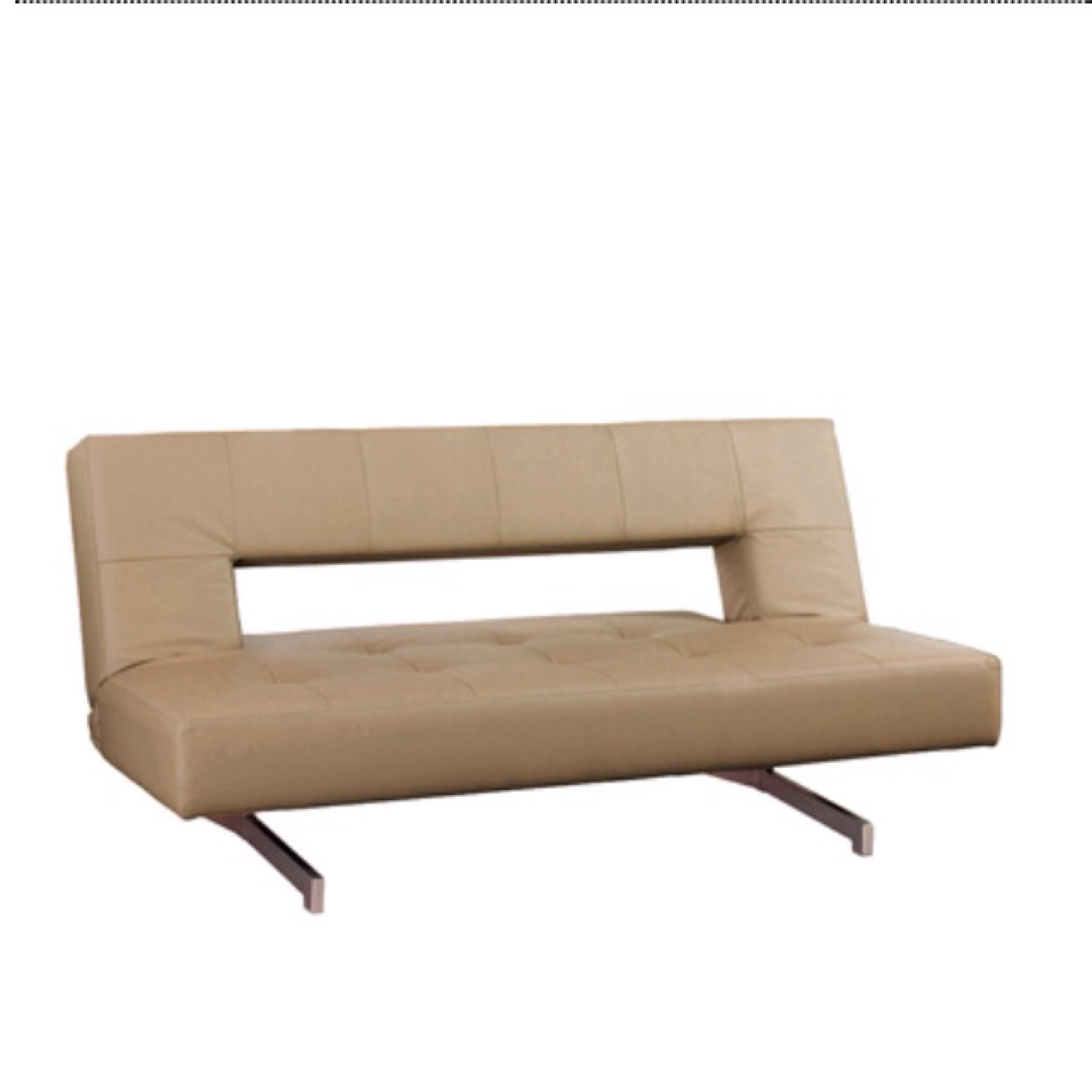Terrific For Sale A Great Dwell Pisa Sofa Bed In Tan Faux Depop Gmtry Best Dining Table And Chair Ideas Images Gmtryco