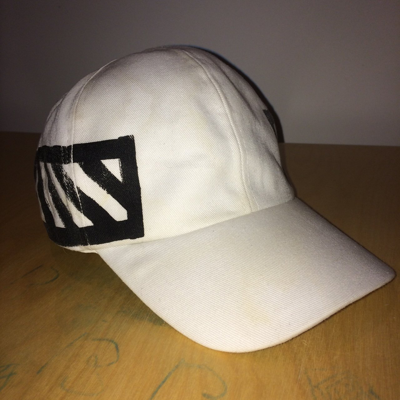 d3c9368bc45 Off-white c o Virgil Abloh White dad cap hat 8.5 10 - a few - Depop