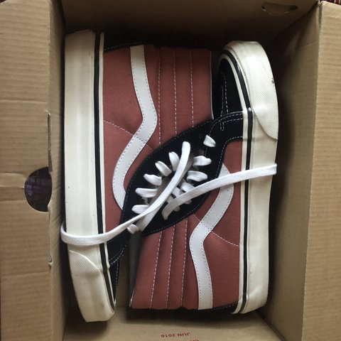VANS SK8 - HIGH TOP WOMENS 9 MENS 7.5 They are like a rust - Depop 65451ac0c