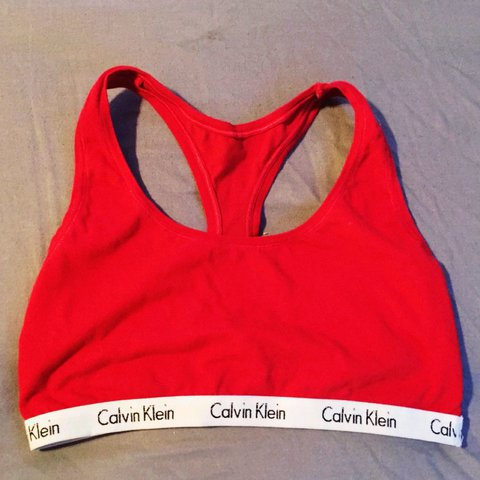 78590731e2d Adorable Calvin Klein sports bra. I love this so much! I to - Depop