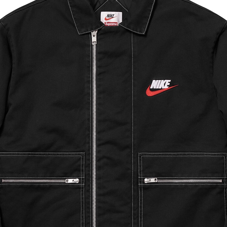 Item name : Supreme x Nike Double Zip quilted Work Depop