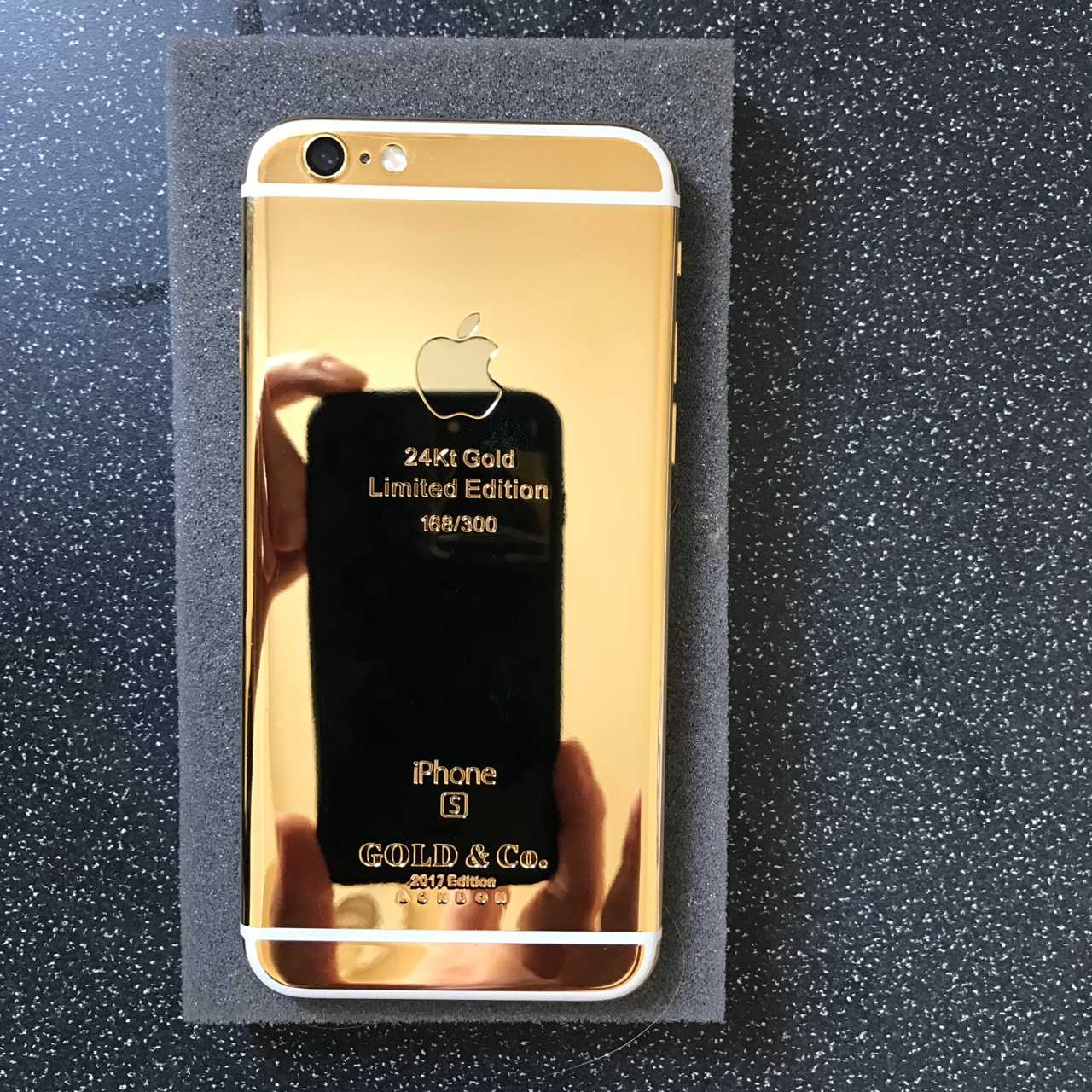Gold Co 24kt Gold Iphone 6s 64gb 2017 Edition One Depop