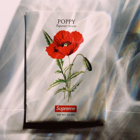 Supreme Poppy Flower Seeds With Supreme Box Logo Depop