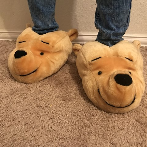 847aafecbe4 Gently used Winnie the Pooh Slippers! The only flaw is the a - Depop