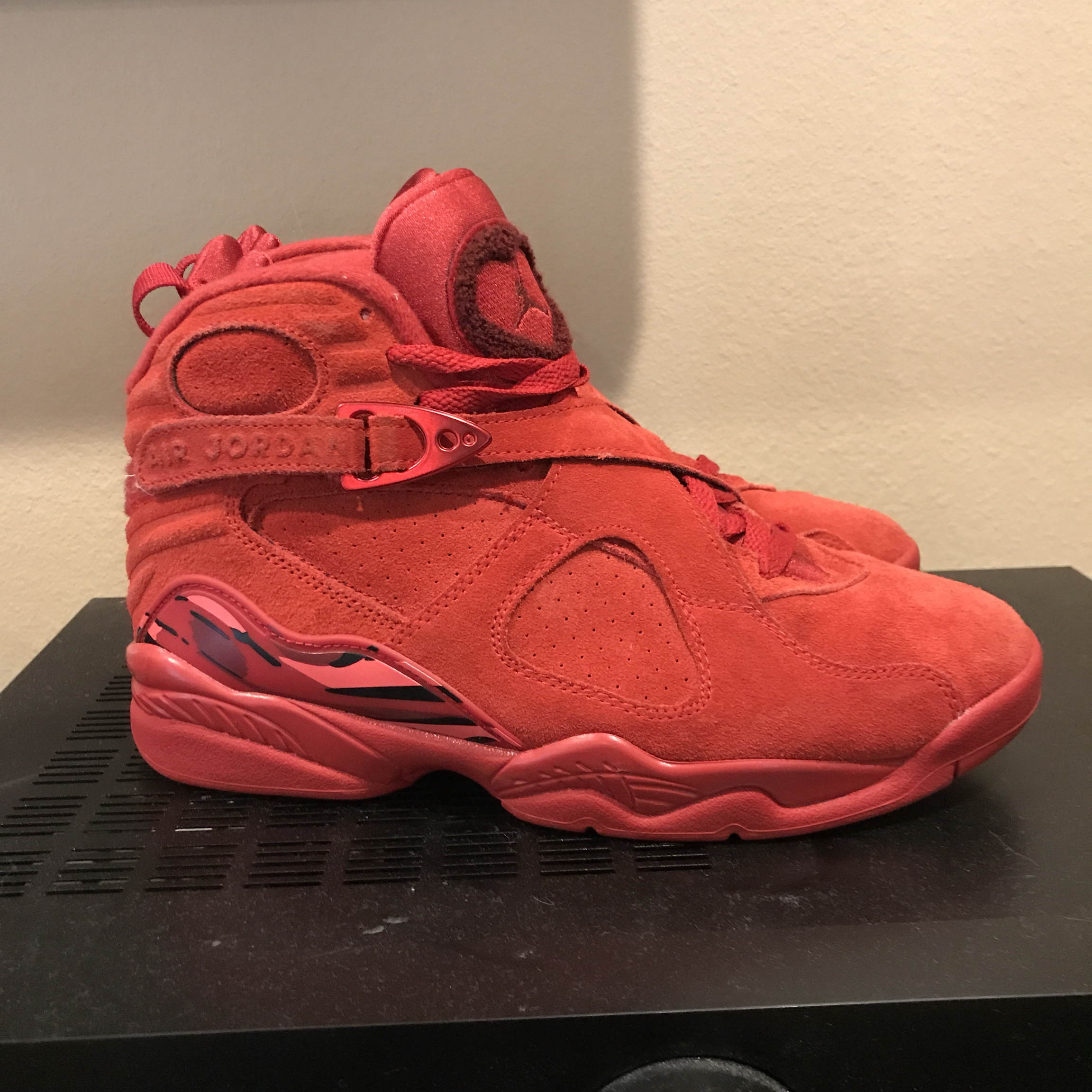 wholesale dealer 39958 11985 2018 Valentines Day Womens size 8 red Air Jordan 8... - Depop