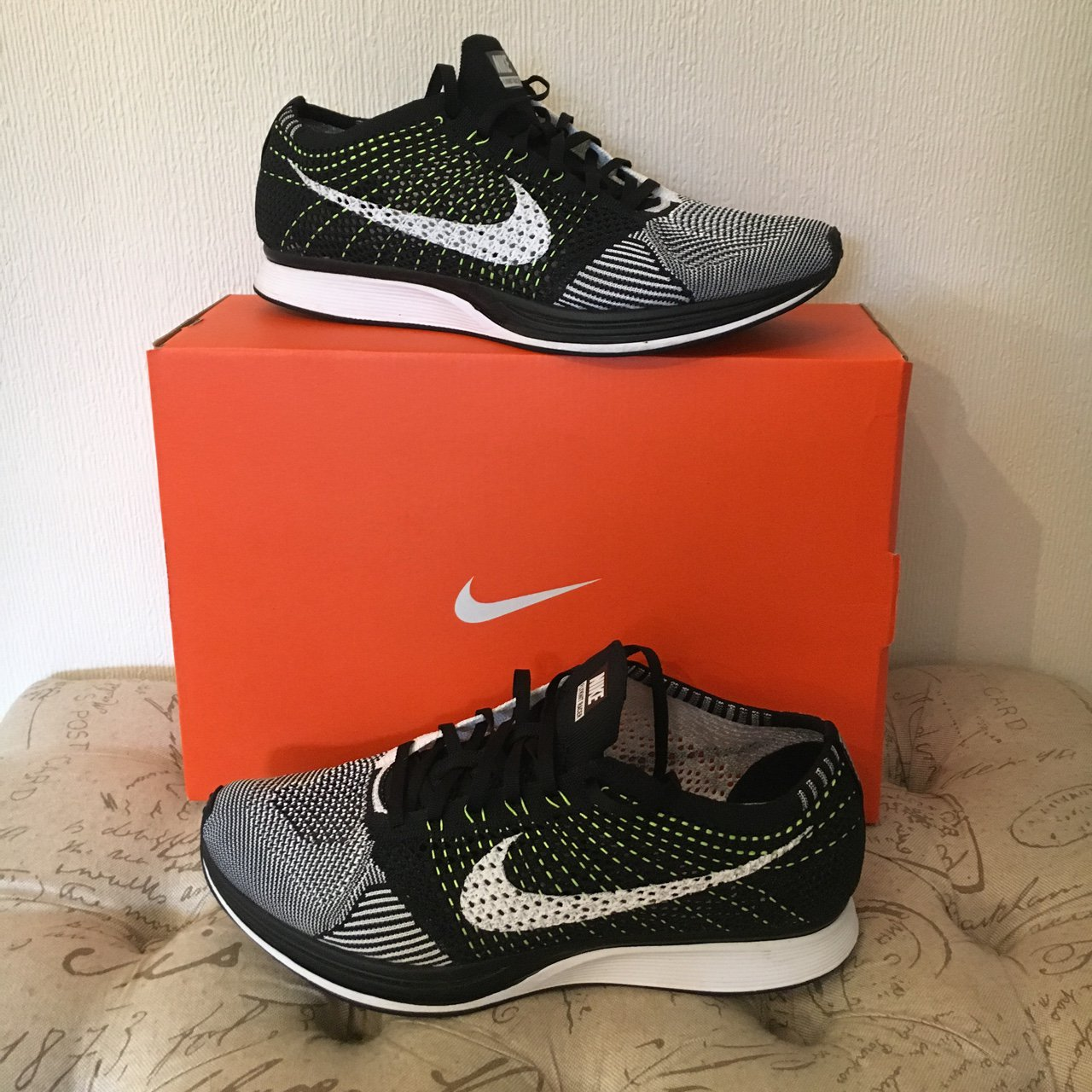 b33e9dab2bd8d4 Nike Flyknit Racer UK10 For sale as never wear No visible   - Depop
