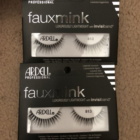0b79b5415da Ardell Faux Mink eyelashes in style 813. Price is for BOTH - Depop