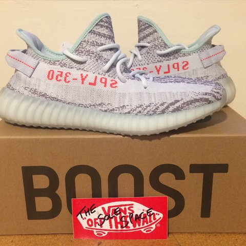 a6c1a640088cb Adidas Yeezy Boost 350 V2 Blue Tint in size UK 11.5 with UK. - Depop