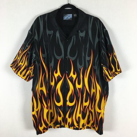 02ba008d9 XL Flame Shirt (Polyester material) Can fit a national me to - Depop