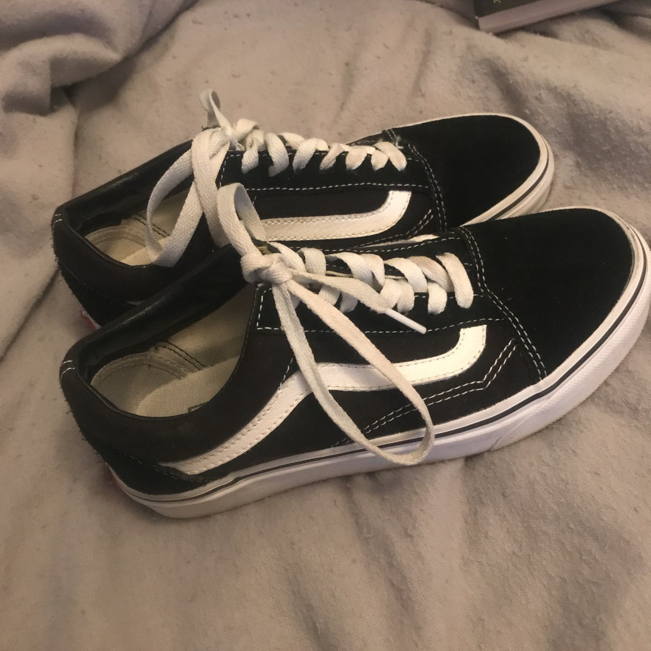 04be9ed78b0210 Black old school vans UK size 4. Worn a couple of times