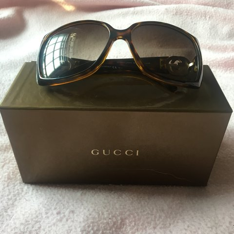 f35eaee56715 REDUCED FROM £100- Gucci sunglasses in the style 791 Havana - Depop