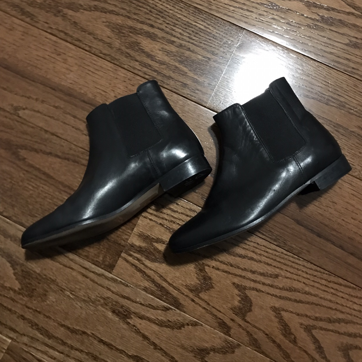 J Crew Black Leather Ankle Boots Free