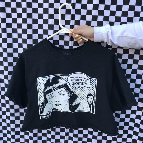 b3f3ea184f85 oh god! why can t my boyfriend skate  ! thrasher shirt size - Depop