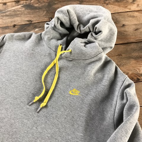 c267a56886a8aa Nike small logo pull over hoodie sweater Marl grey with logo - Depop