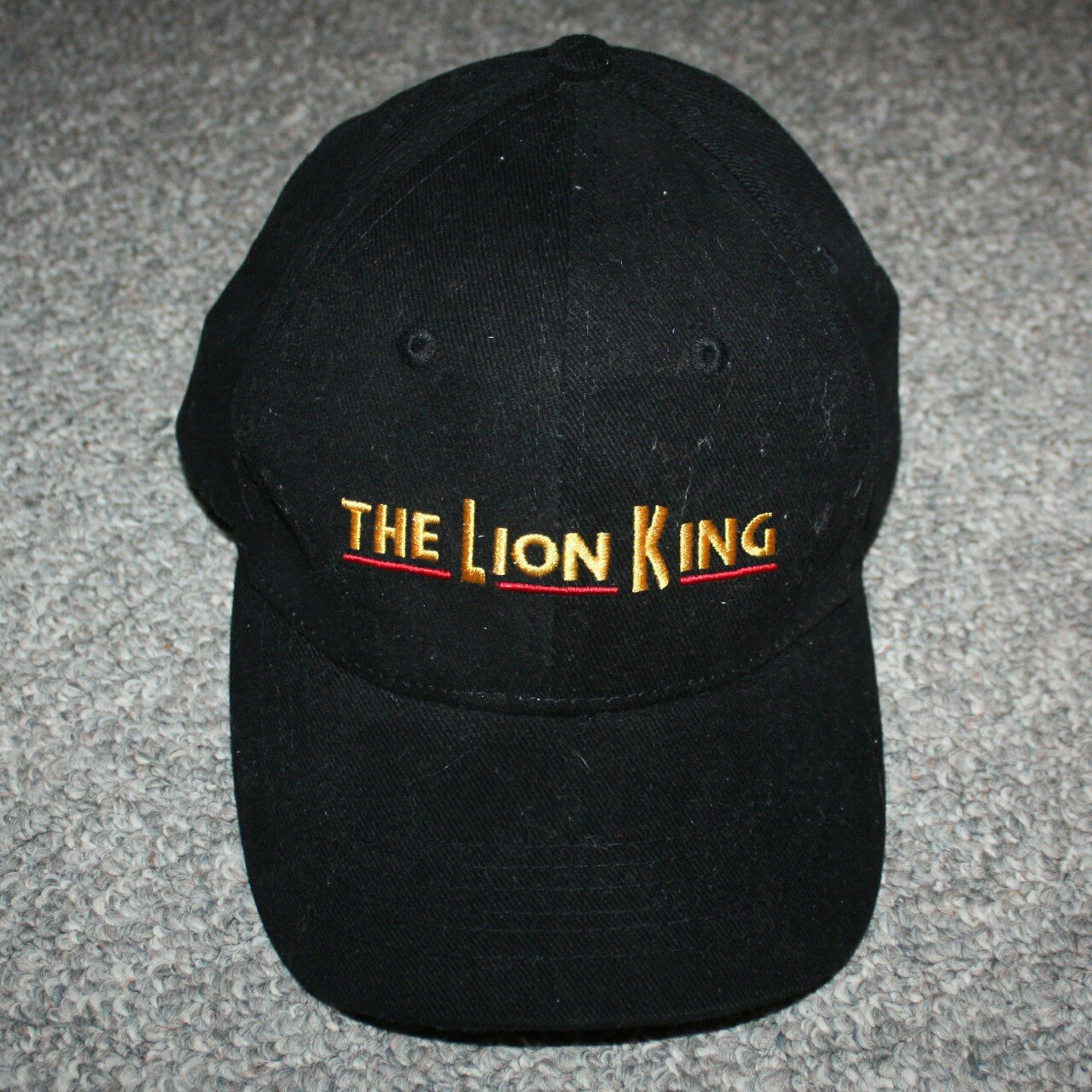 8719129183f Vtg THE LION KING snap back hat! One size fits all. Great - Depop