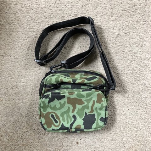 24a47874047 Multi-pocket #Camo #sidebag. The perfect lifestyle Whether - Depop