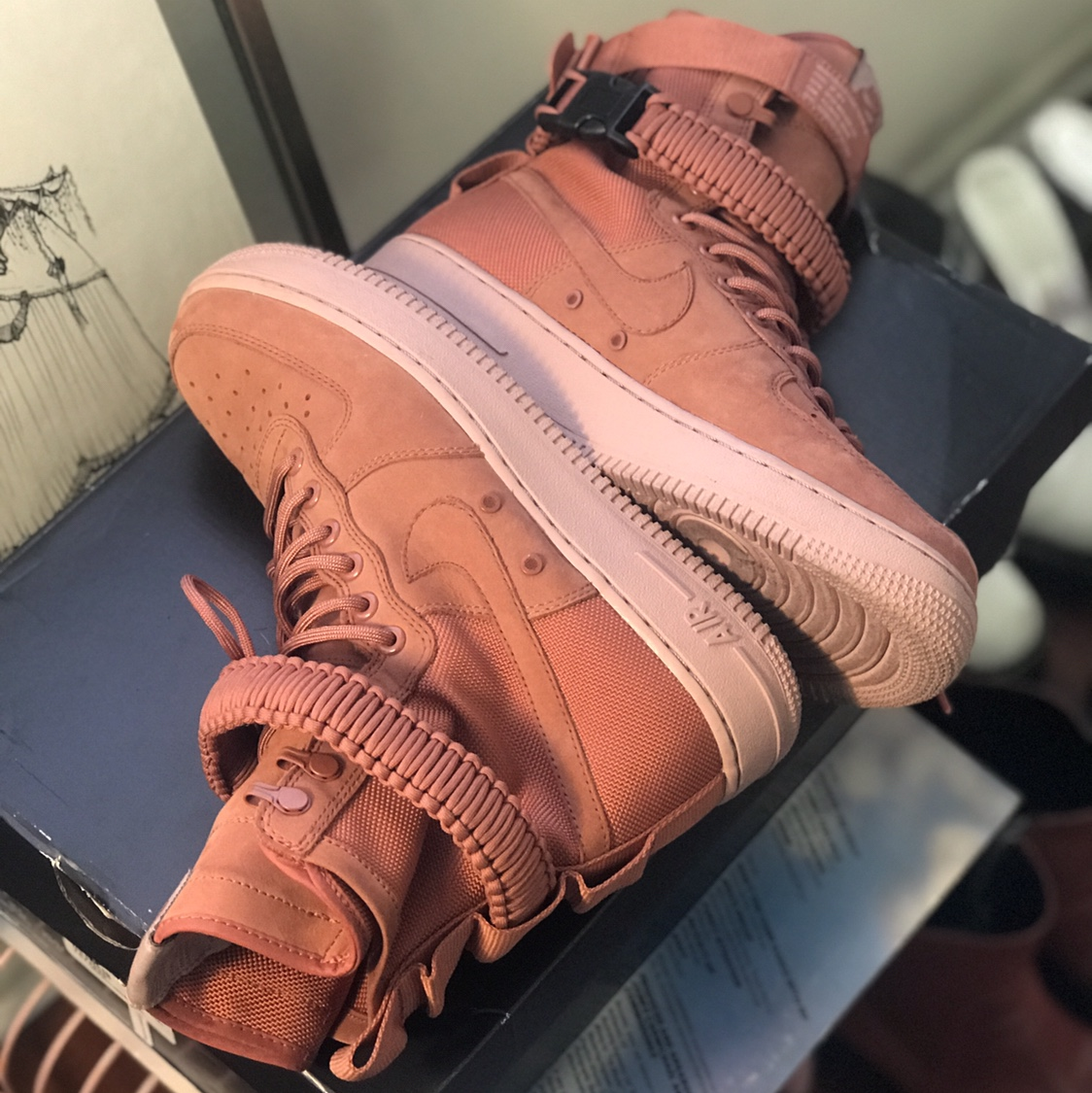 Air Force One SF High Top with Buckles and Rope Depop