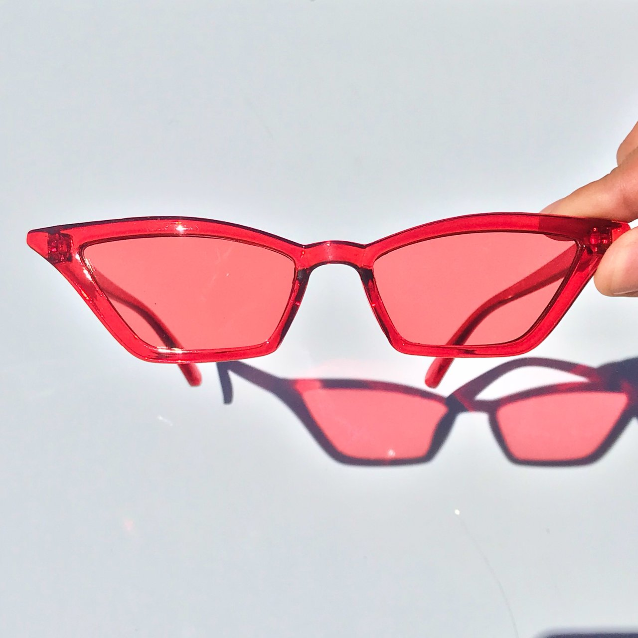 37fea866f1 brand new cat eye sunglasses in red plus cheap shipping - Depop