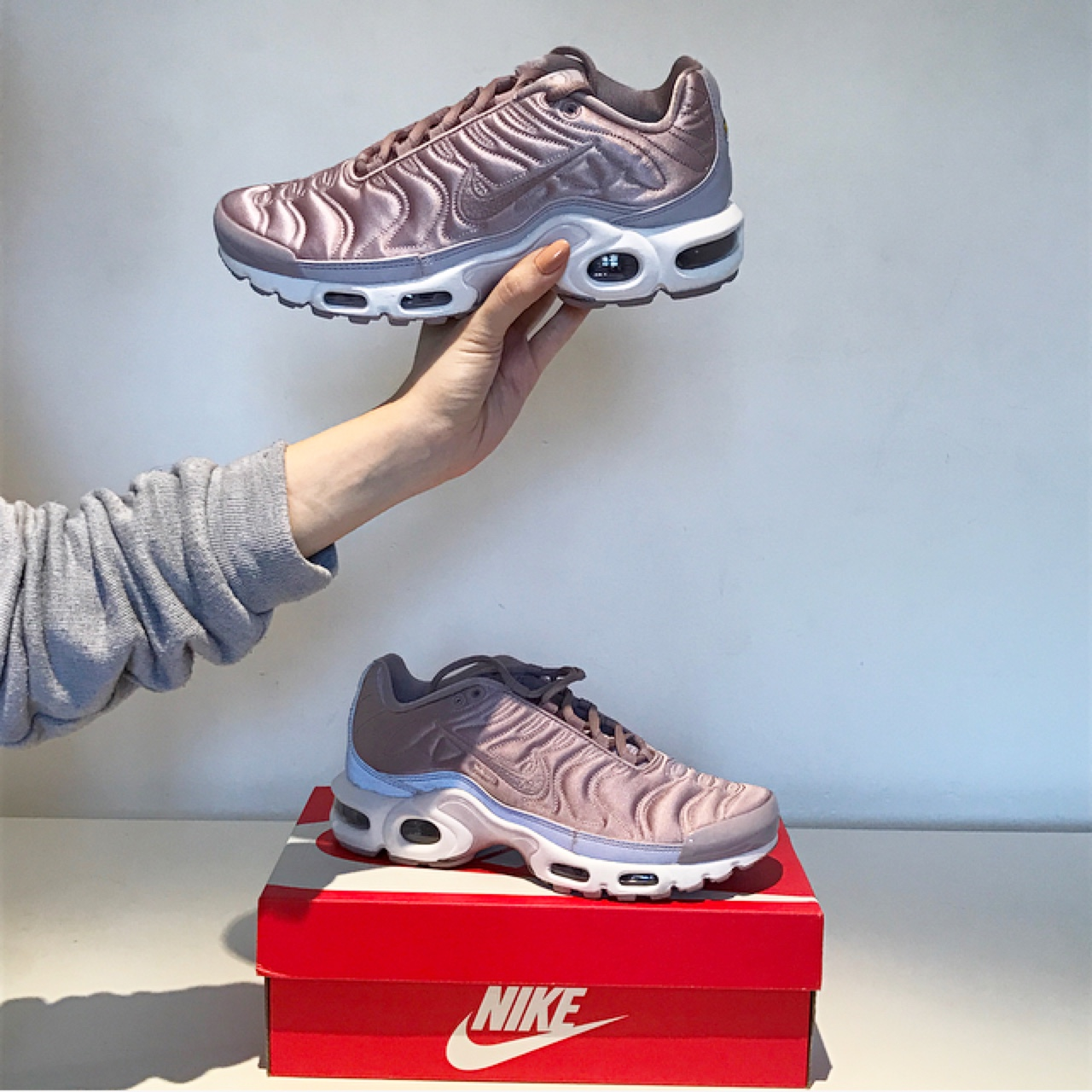 undefeated x quality products attractive price Nike Air Max Plus 'Satin Pack' in Plum Fog / Pink -... - Depop
