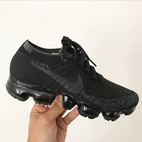 58310abfd7 ... authentic nike air vapormax flyknit triple black brand new in box depop  62c03 878a0