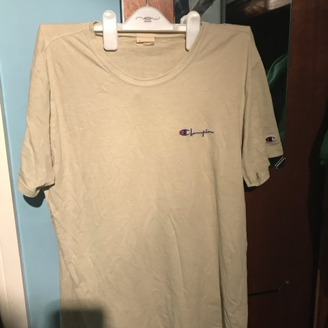b1c230f26 @george_scan. 3 days ago. United Kingdom. Vintage Beige Champion T shirt. Size  L.