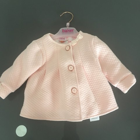 d8ba4c68314c Baby s Ted baker jacket   coat Size 3-6 months Quilted pink - Depop