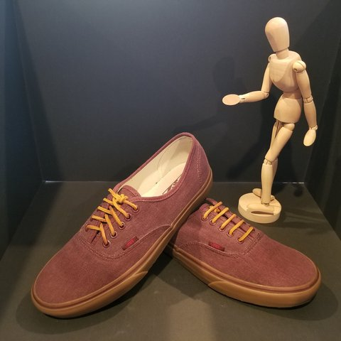 8f78a87366 Vans Off The Wall Vans Washed Canvas Burgundy  Brown Size - Depop