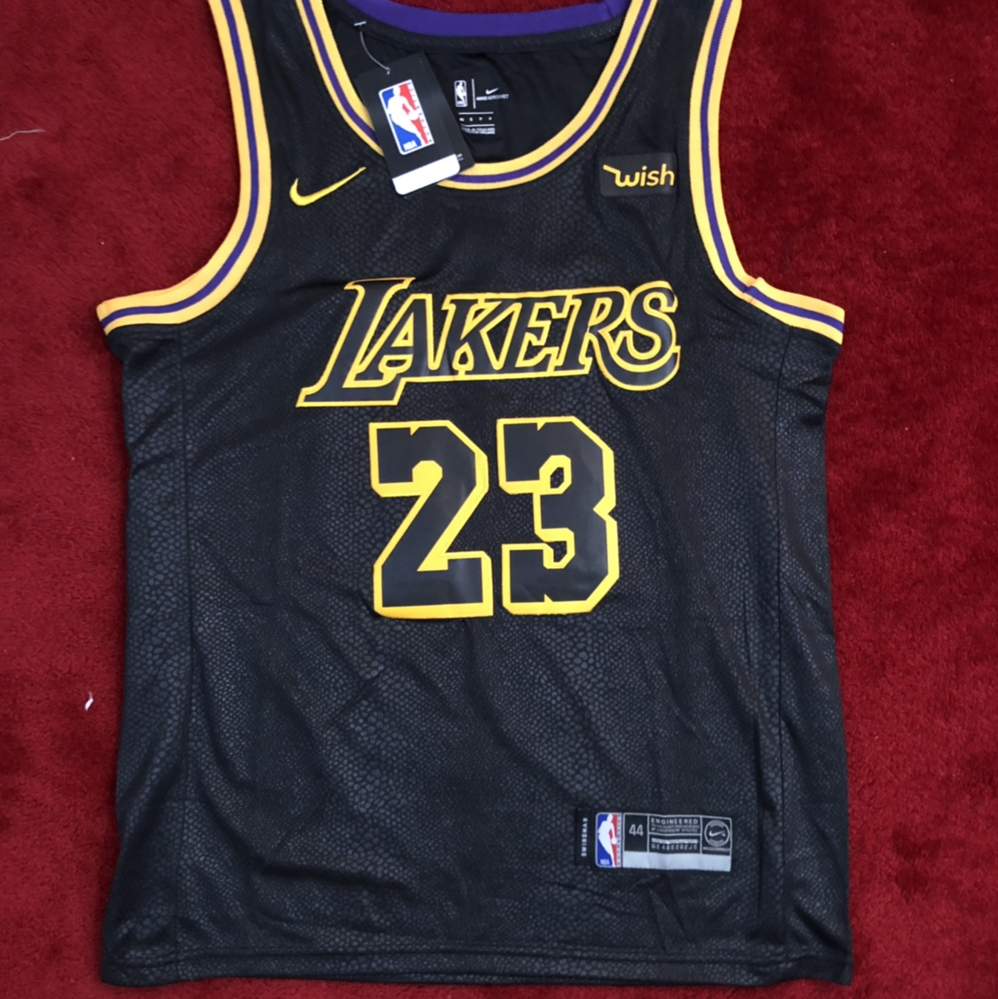 check out 21be7 6fcca #23 Lebron James - LA Lakers Jersey - Black (UK M/US ...