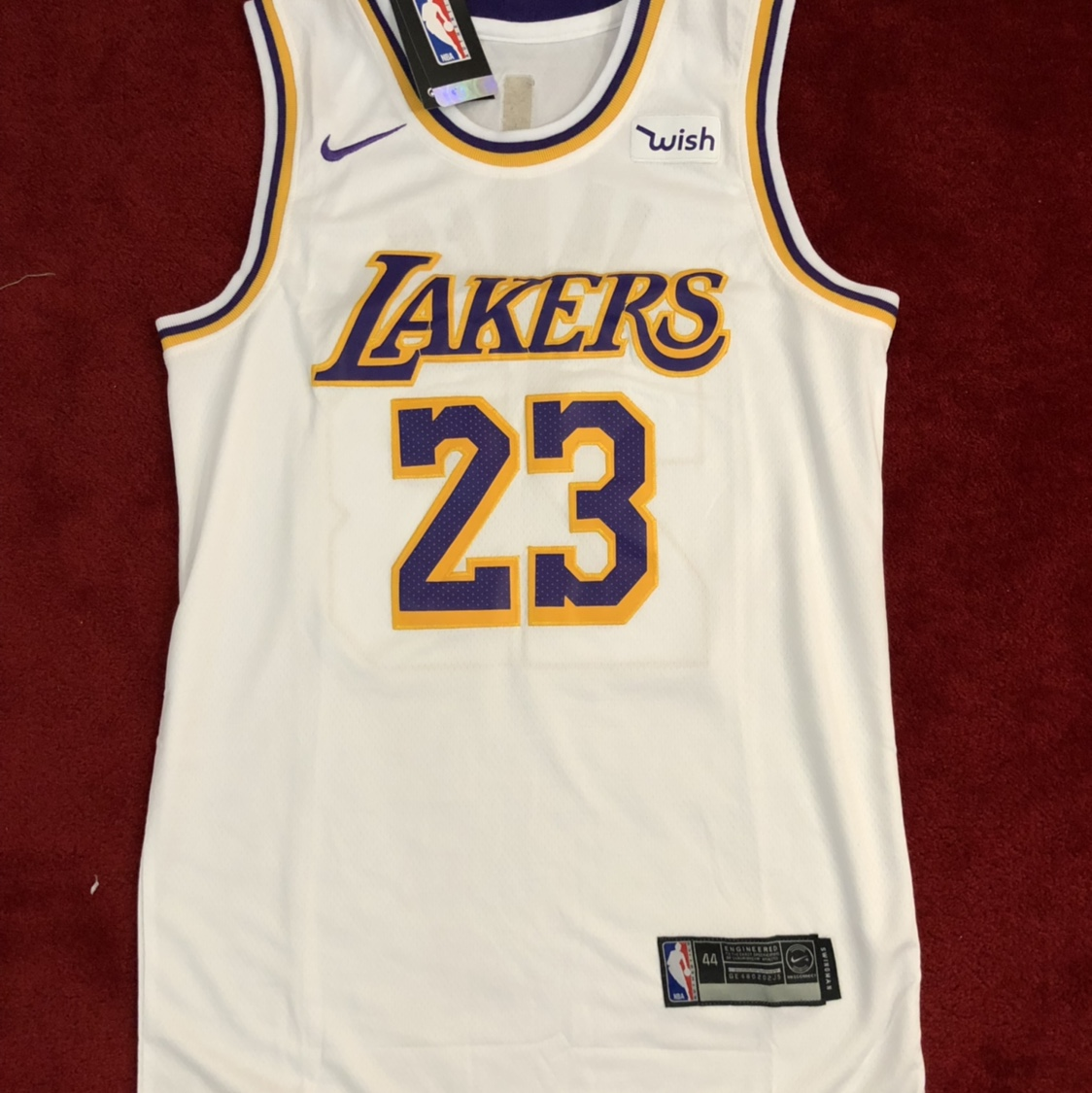 newest 70740 e0243 #23 Lebron James - LA Lakers Jersey - White (UK M/US ...