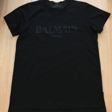 bd50755e @charlanne. last year. Leeds, United Kingdom. Men's black Balmain Crewneck  Tshirt XL Good condition